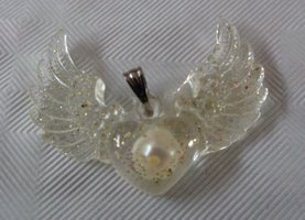 Angel wings, zoetwaterparel, Gabriël €15,00