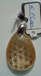 Citrien, Flower of Life goudkleur €15,00