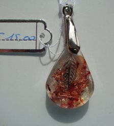 Abalone, citrien, leaf €15,00