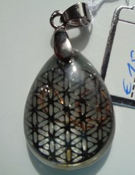 Citrien, Flower of Life bronskleur €15,00